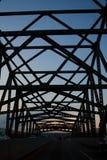 Bridge night sceen sunset Royalty Free Stock Photos