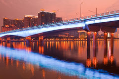 Bridge Night scene Stock Photo