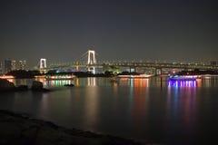 Bridge - night scene royalty free stock photography