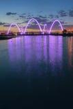 Bridge night scene Royalty Free Stock Photos