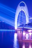 Bridge Night scene with spot light Stock Image