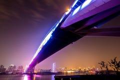 Bridge at night. Shanghai Lupu bridge at night Royalty Free Stock Photos