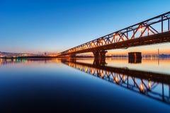 Bridge at night Royalty Free Stock Images