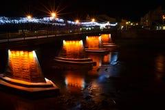 Bridge at night time. Nice photo of bridge at night time royalty free stock photography