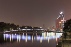 Bridge(night view of yuandang lake) Stock Photos
