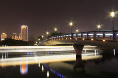 Bridge(night view of yuandang lake) Stock Photos
