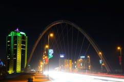 Bridge in nigth city Stock Photography