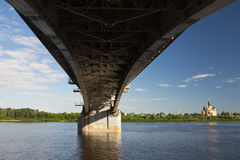 Bridge in Nizhniy Novgorod Royalty Free Stock Photos