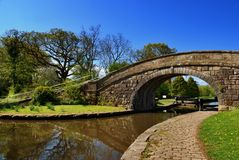 Bridge No 1 on the Lancaster Canal Stock Images