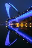 Bridge nocturne. The nocturne of Nanzhonghuan Bridge in Taiyuan, Shanxi, China Royalty Free Stock Photo