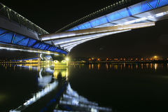 Bridge nocturne. The nocturne of Jifen Bridge in Taiyuan, Shanxi, China Royalty Free Stock Photography