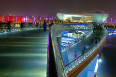 Bridge nocturne. The nocturne of Jifen Bridge in Taiyuan, Shanxi, China Stock Images
