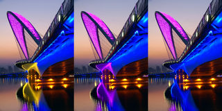 Bridge nocturne. The nocturne of Nanzhonghuan Bridge in Taiyuan, Shanxi, China Royalty Free Stock Images