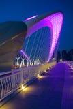 Bridge nocturne. The nocturne of Nanzhonghuan Bridge in Taiyuan, Shanxi, China Stock Image