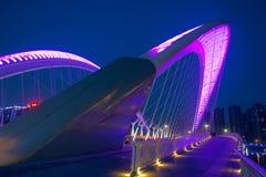 Bridge nocturne. The nocturne of Nanzhonghuan Bridge in Taiyuan, Shanxi, China Stock Photo