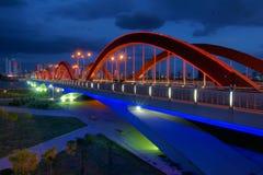 Bridge nocturne. The nocturne of Yifen Bridge in Taiyuan, Shanxi, China Royalty Free Stock Photo