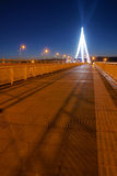Bridge nocturne. The nocturne of Xiangyun Bridge in Taiyuan, Shanxi, China Royalty Free Stock Photo