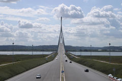 Bridge of Normandy. The Pont de Normandie (or Bridge of Normandy stock photo