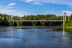 Bridge in norway. A long bridge in Norway Royalty Free Stock Photos