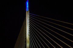 Bridge. A bridge in norway at night Royalty Free Stock Image