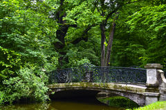 Bridge at Nymphenburg Palace Royalty Free Stock Photography