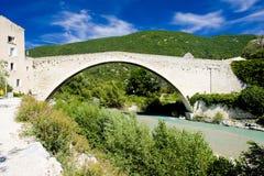 Bridge in Nyons stock images