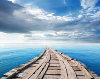 Bridge in the ocean Stock Photos