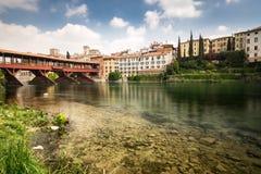 Free Bridge Of The Alpini In Bassano Del Grappa, Vicenza, Italy. Stock Image - 74648861