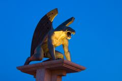 Bridge Of The Gargoyle With Blue Sky Royalty Free Stock Image
