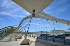 Bridge Of The Third Millenium In Zaragoza Stock Photos