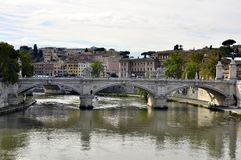 Bridge offering view over Rome Royalty Free Stock Image