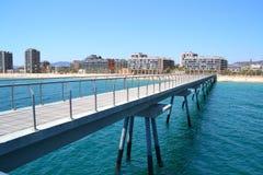 Bridge Oil - Pont del Petroli. Badalona, Spain, a place for walking over the sea Stock Photo
