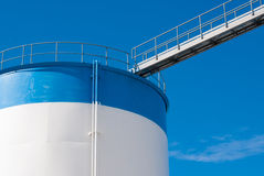 Bridge on a oil storage tank Stock Image
