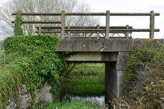 Bridge on Old Dereham to Holt Rail Way Line. At North Elmham royalty free stock image