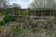 Bridge on Old Dereham to Holt Rail Way Line. At North Elmham stock images