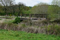 Bridge on Old Dereham to Holt Rail Way Line. At North Elmham royalty free stock images