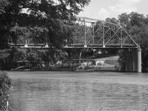 Bridge. Old highway 90 bridge, seguin tx Royalty Free Stock Images