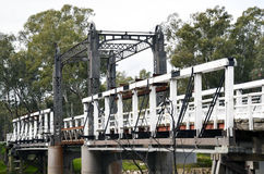 Bridge. Old lift bridge on the Murray river Australia royalty free stock photo
