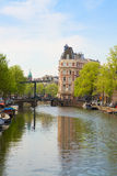 Bridge in old town of of  Amsterdam Royalty Free Stock Photos