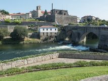 Bridge and old town of Barcelos royalty free stock photography