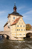 Bridge old town hall Bamberg Royalty Free Stock Images