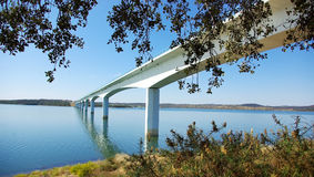 Bridge On The Alqueva Lake. Royalty Free Stock Photography