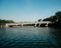 The castle bridge of osaka castle stock images