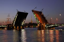 bridge open stock view Στοκ εικόνες με δικαίωμα ελεύθερης χρήσης