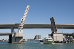 Bridge opened for yachts in Miami Stock Photo