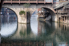 Bridge opening Royalty Free Stock Images