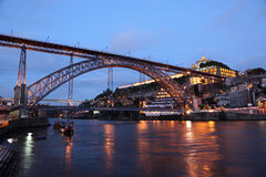 Bridge in Oporto Portugal Royalty Free Stock Photos