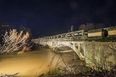 Bridge on Orbigo laughed in Zamora Stock Images