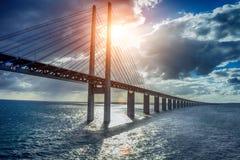 The bridge Oresundsbron Royalty Free Stock Image