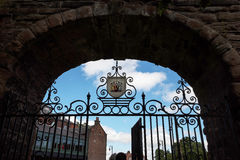 Bridge in the original Roman Walls that encircle the City of Chester in England Royalty Free Stock Photo